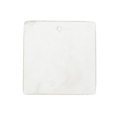 Marque place nacre carre blanc 4 cm les 6