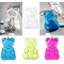 Boîtes à dragées ours plexi transparent couleur les 4