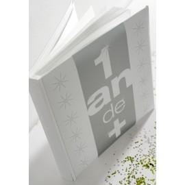 Livre d'or Anniversaire 1an de + Blanc Argent