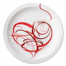 Assiette Coeur Design Carton Blanc 23 cm les 10