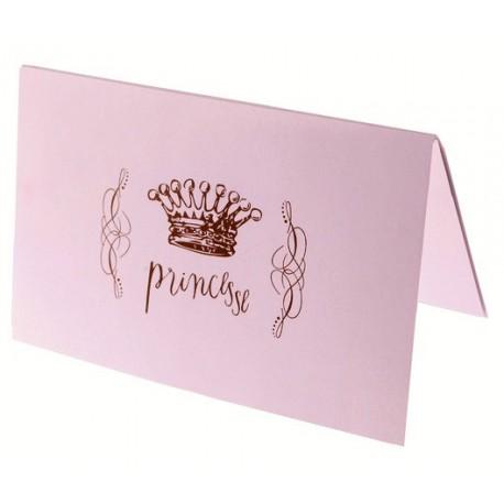 6 Cartes Princesse Rose Cartes Invitation ou Menu