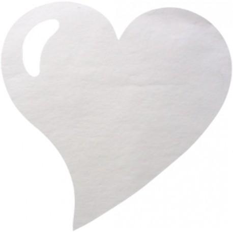 Sets de Table Coeur Blanc
