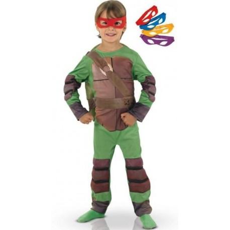Déguisement Tortues Ninja Enfant TMNT Luxe et 4 Masques