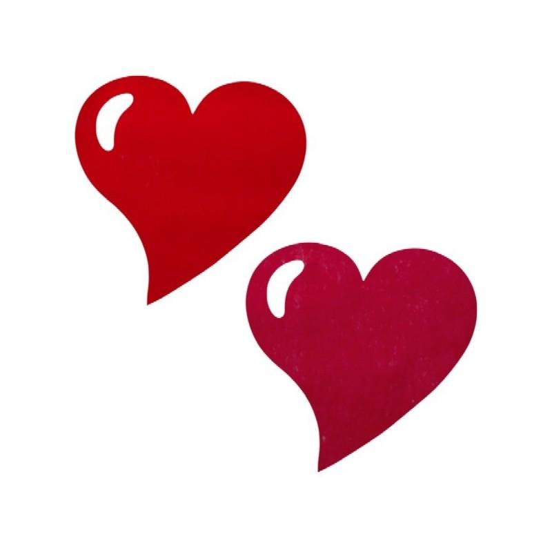 Set de table coeur intiss rouge bordeaux les 50 for Set de table bordeaux