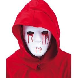 Masque Blanc Homme avec Larmes de Sang