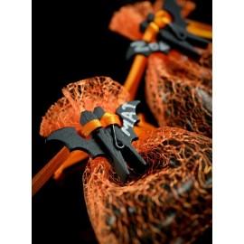 6 pince a linge chauve souris en bois noir deco de fete
