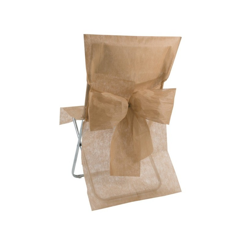 De chaise intiss avec noeud 10 housses de chaise roses for Housse de chaise rose
