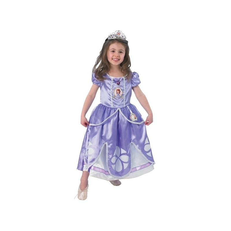 D guisement disney princesse sofia deluxe enfant - Deguisement disney enfant ...