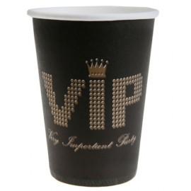 Gobelets VIP Carton Noir Or Chic les 10