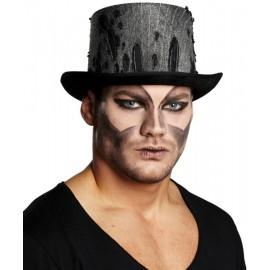 Chapeau Haut de Forme Halloween Noir Adulte