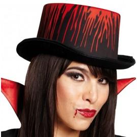 Chapeau haut de forme blood avec sang degoulinant