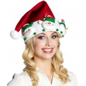 Bonnet de Noël Bonhomme de Neige adulte