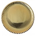 Assiettes Carton Métallisé Or Rondes 18 cm les 10