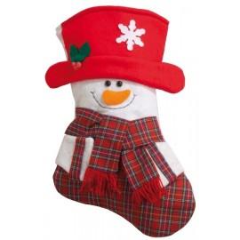 Chaussette de noël Bonhomme de neige déco noël 34 cm