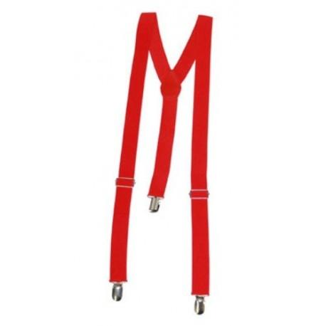 Bretelles rouge adulte de deguisement