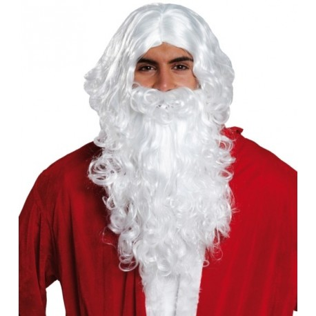 Barbe Père Noël et perruque Père Noël adulte Santa Claus