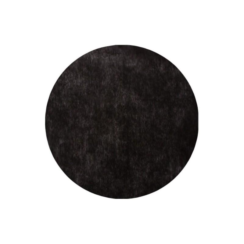 set de table rond noir