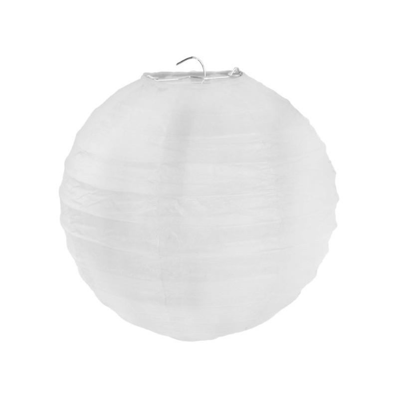 Lanterne boule chinoise papier blanc 50 cm - Boule papier chinoise ...