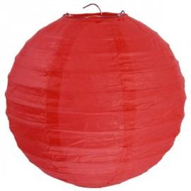 Lanterne Boule Chinoise Papier Rouge 50 cm