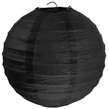 Lanterne Boule Chinoise Papier Noir 50 cm
