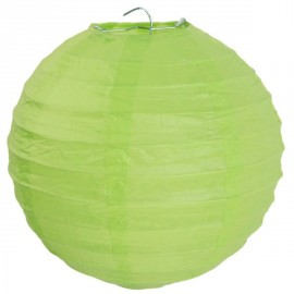 Lanterne Boule Chinoise Papier Vert Anis 50 cm