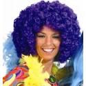 Perruque disco violette adulte