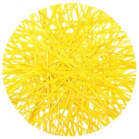 Set de table Raphia jaune 34 cm les 4