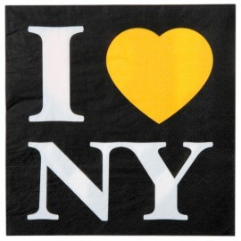 Serviettes de table I Love New York les 20