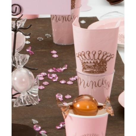 Serviette de table Princesse rose les 20