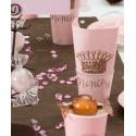 Serviettes de table Princesse rose les 20