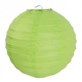 Lanterne boule chinoise papier vert anis 30 cm les 2