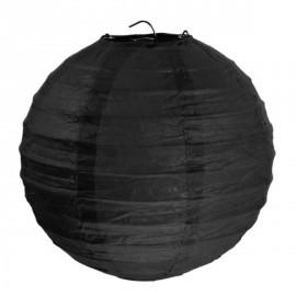 Lanterne boule chinoise papier noir 30 cm les 2