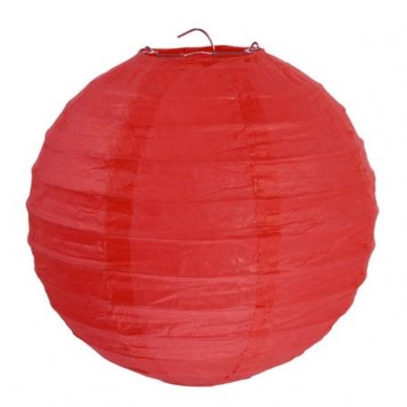 Lanterne boule chinoise papier rouge 30 cm les 2