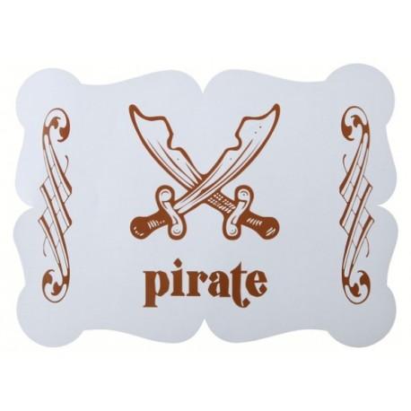 Sets de table Pirate Bleu ciel les 6