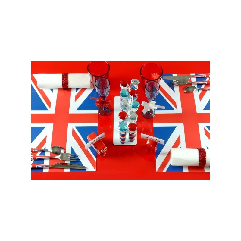 Set de table angleterre drapeau anglais les 6 for Couvert de table en anglais