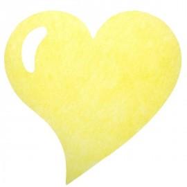 Sets de table coeur intissé jaune les 50