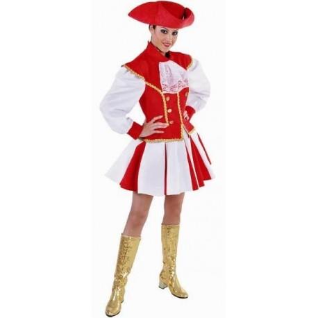 Déguisement majorette rouge blanc femme luxe