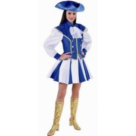 Déguisement majorette bleu blanc femme luxe