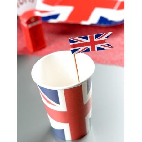 Pique cocktail drapeau Anglais Union Jack les 10