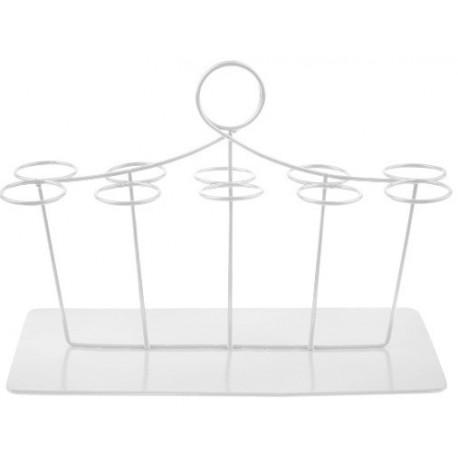 Présentoir à éprouvette à dragées blanc rectangulaire 20 cm
