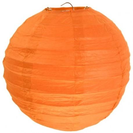 Lanterne boule chinoise papier orange 50 cm
