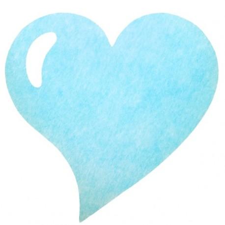 Set de table coeur bleu ciel intissé les 50