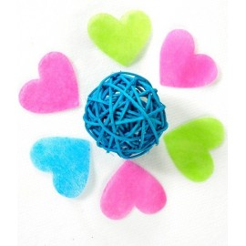 Confetti coeur intisse 4 cm les 100 deco de table