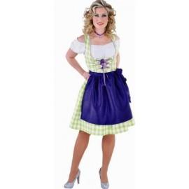 Costume Bavaroise Dirndl Vert anis Deluxe Femme