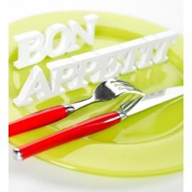 Mot bon appetit en bois decoration de table lettres deco