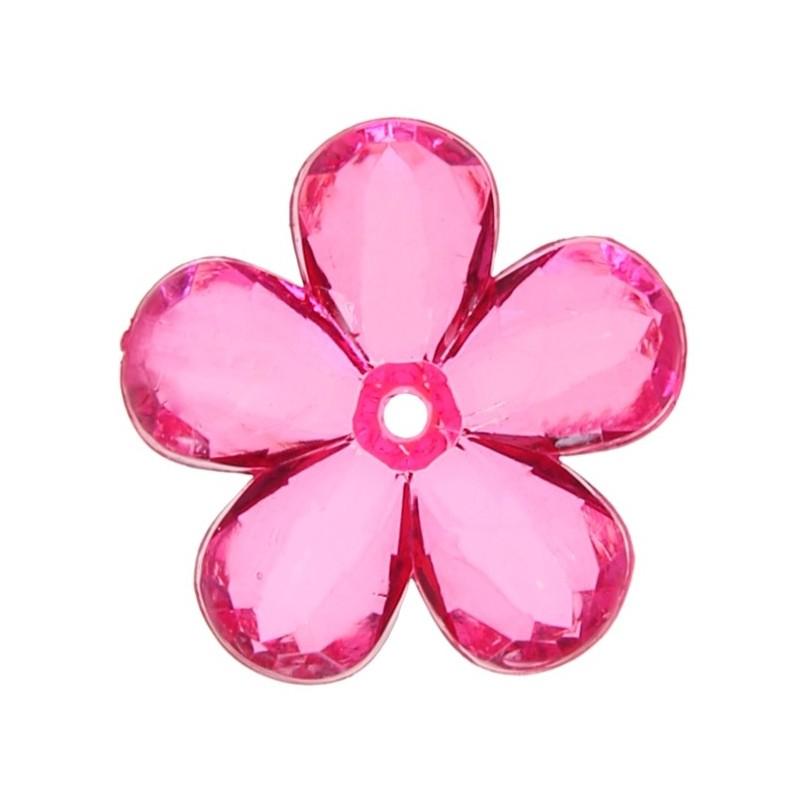 perles fleurs transparentes couleur 2 1 cm les 10. Black Bedroom Furniture Sets. Home Design Ideas