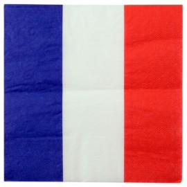 Serviettes de table France drapeau Français les 20