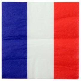Serviettes de table France drapeau Français les 20