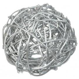 Boule rotin argent diametres assortis les 10