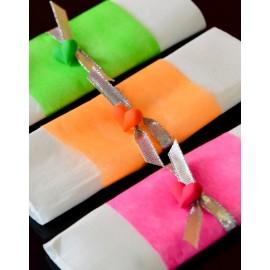 Ruban Fluo intissé couleur 10 M